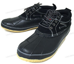NIB Mens Short Duck Boots Suede Insulated Waterproof Rain Boat Snow Winter Shoes $26.89