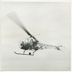 BELL HELICOPTER FOR ROUNDING UP CATTLE VERNON TX VINT PHOTO REPRINT ONLY $14.95