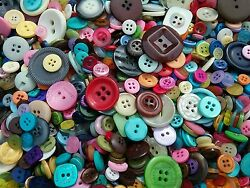 Sewing Button Mix #1 Bulk Lots of 100 200 300 400 500 New and Vintage