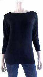 Designer Womens size S Soft Pull Over Scoop Neck Banded Hem Knit Sweater CHOP