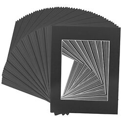 Set of 20 11x14 BLACK Picture with Whitecore for 8x10 photos $21.99