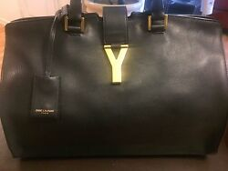 Women's YSL Italian Black Leather handbag ISBN: 8512433232