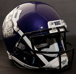 *CUSTOM* TCU HORNED FROGS Schutt XP Gameday REPLICA Football Helmet wROPO-SW