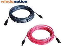 Pair Black + Red Solar Panel Extension Cable Wire Solar Connectors 10 or 12 AWG  $31.99