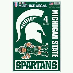 MICHIGAN STATE SPARTANS 4 PIECE MULTI-USE DECALS 11