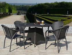 Hudson Outdoor Patio Resin Wicker 8 PC Bar & Bistro Dining Set (Fully Assembled)