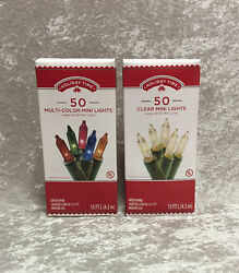Holiday Time 50 Mini Lights Multi Color or Clear White $6.99