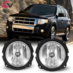07 12 For Ford Escape Clear Lens Pair OE Fog Light LampWiringSwitch Kit DOT $35.49