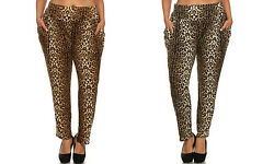 Celebrity Style Casual Loose FIT Leopard Print Straight leg Pants