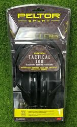 Peltor Tactical 100 Earmuffs Electronic 22db NRR Hearing Protector 3M TAC100 $74.44