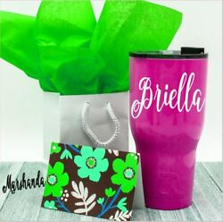 Monogram Vinyl Decal For Your Cup Tumbler Rambler Personalized Name 2.5