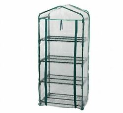 Gardening 4 Tier Growhouse Mini Outdoor Garden Plant Greenhouse with PVC Cover