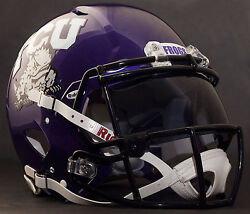 TCU HORNED FROGS NCAA Gameday REPLICA Football Helmet w OAKLEY Eye Shield