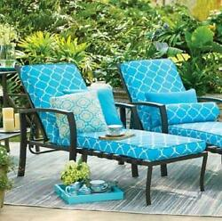 Dark Bronze Metal Outdoor Chaise Lounge Chair Lounger Pool Patio Deck Furniture