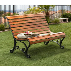 Outdoor Garden Bench Patio Furniture Porch Seat Wood Chair Yard Deck Lawn Home