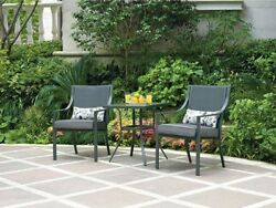 Outdoor Patio Furniture 3 Piece Bistro Set Table & 2 Chairs Garden Deck Pool NEW