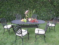 Grand Patio Furniture Liana Collection Solid Cast Aluminum 7 Piece Dining Set B