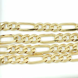 18k Yellow Gold Figaro Chain Necklace (NEW width: 7.7mm) #2493