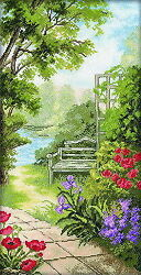 Counted Cross Stitch Kit RTO - Garden benches