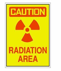 Caution Radiation Area Sticker OSHA Work Safety Business Sign Decal Label D2231
