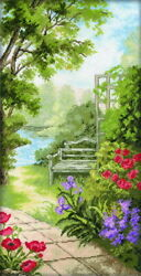 Counted Cross Stitch Kit RTO - GARDEN BENCH