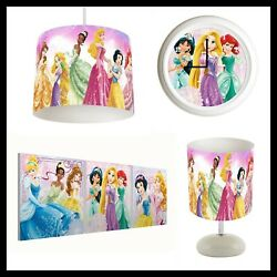 DISNEY PRINCESS Girls Bedroom Lampshade Lightshade Lamp Clock Canvas Prints GBP 22.99