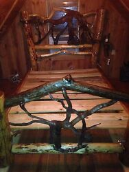 Custom One Of A Kind Artisan Crafted Cabin Log Queen Bed Set Suit Cedar Hemlock