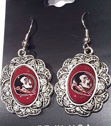 New Florida State University FSU Bling Antique Inspired Earrings $9.01