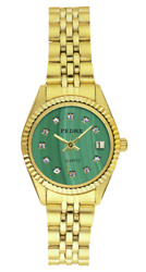 New Imitation Malachite Dial Gold-Plated Stainless Steel Bracelet Women's Watch