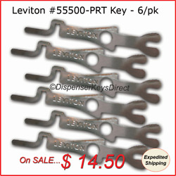 Leviton #55500 PRT Tamper Proof Electrical Switch Key 6 pack