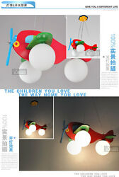 Kid#x27;s Bedroom Red Airplane Ceiling Pendant Lamp Babys Room Chandelier Fixtures $102.00