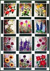 Whims Watercolor Quilt Kits Rachel's Flower Garden Quilting Supplies New Free