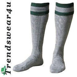 Oktoberfest Trachten Socks German Bavarian Lederhosen GaryGreen Stripes Socks