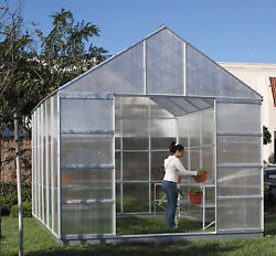 10 FT. x 12 FT. GREEN HOUSE WITH 4 VENTS UV coated polycarbonate panels