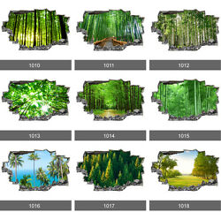 Forest Trees Nature Landscape 3D Art Wall Mural Photo Wallpaper Wall Stickers GBP 11.99