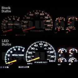 NEW Dash Cluster Gauge White SMD LED LIGHT BULBS KIT Fits 95-98 Chevy Silverado  $13.99
