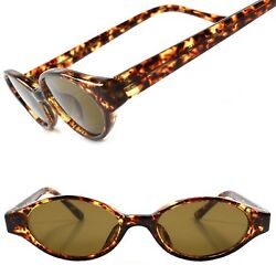 True Vintage 60s 70s Old Fashioned Tortoise Womens Oval Lens Cat Eye Sunglasses $14.99