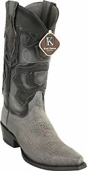 KING EXOTIC GRAY SNIP TOE GENUINE SHARK WESTERN COWBOY BOOT 94RD0909 $259.99
