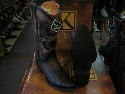 KING EXOTIC BROWN SNIP TOE GENUINE OSTRICH WESTERN COWBOY BOOT 94DR0316 $359.99