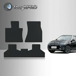 ToughPRO Floor Mats Black For BMW X5 All Weather Custom Fit 2014 2018 $79.95