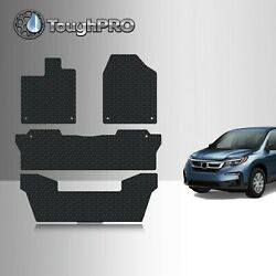 ToughPRO Floor Mats 3rd Row Black For Honda Pilot All Weather 2016 2021 $99.95