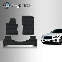 ToughPRO Floor Mats Black For Infiniti Q50 All Weather Custom Fit 2014 2020 $79.95