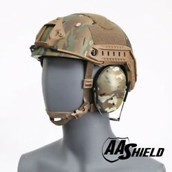 AA Shield Tactical Ballistic Helmet High Cut NIJ Lvl IIIA3A LXL MC Ear Muff Kit $479.99