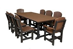Wildridge Recycled Plastic Heritage 44x94 Dining Table with 8 Chairs