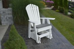 A&L Furniture Company Recycled Plastic Adirondack Gliding Chair