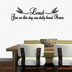 Wall Decal. Inspirational Decal. Christian Decor. Lord Give Us Our Daily Bread $19.99