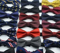 Men Boys Novelty Adjustable Tuxedo Bow Tie Matching Bow Tie Set Wedding Necktie $4.99