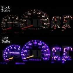 Dash Cluster Gauge PURPLE LED LIGHT BULBS UPGRADE KIT Fits 95-98 Chevy Silverado $12.99