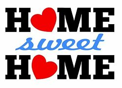 Home Sweet Home Vinyl Decal Sticker Decor Kitchen Living Room Art Sign H4267 $4.79