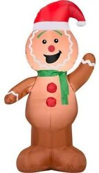 Inflatable Lawn Gingerbread Man Decoration Christmas Yard Outdoor Airblown Air